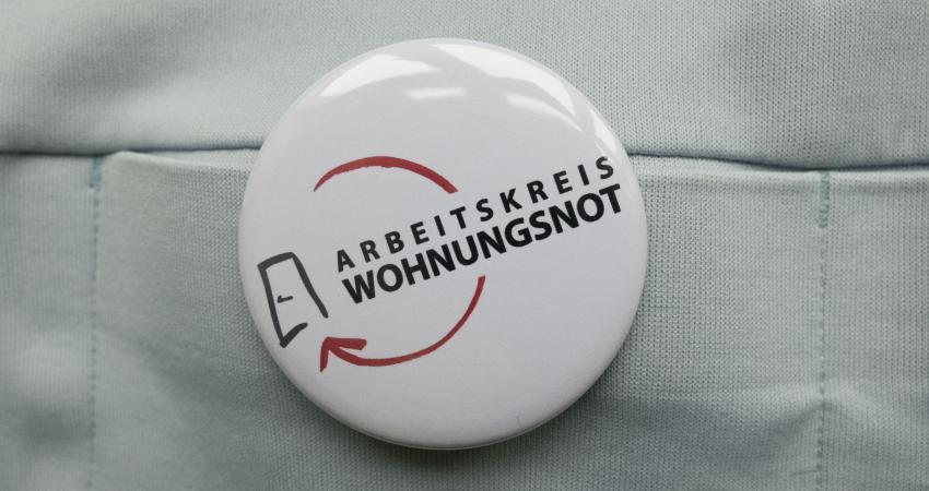 """Button """"Arbeitskreis Wohnungsnot"""""""
