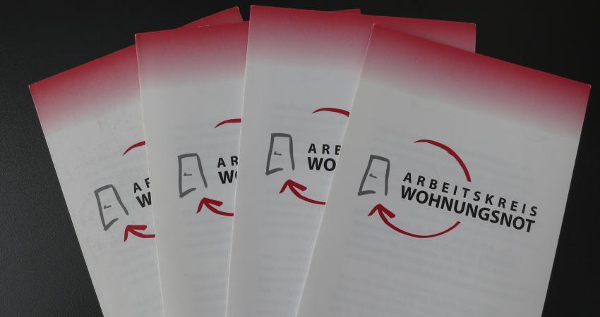 """Flyer """"Arbeitskreis Wohnungsnot"""""""