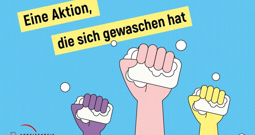 Postkarte Aktion Händewaschen
