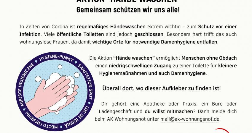 Postkarte Aktion Händewaschen Rückseite